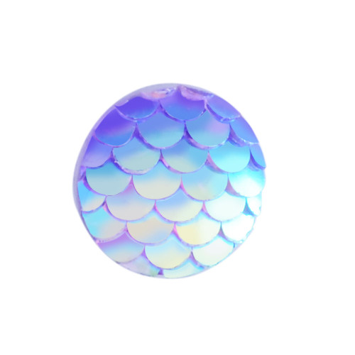 12x3mm Lilac Mermaid Scale Resin Cabochons (6pk)