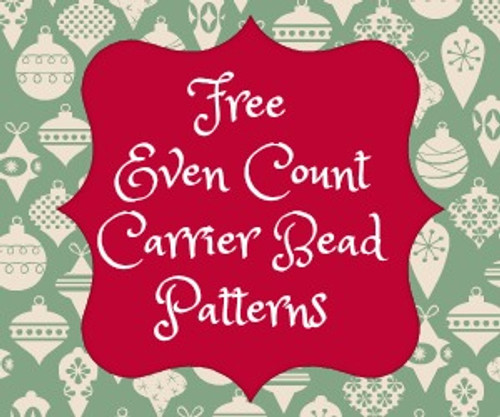 Even Count Carrier Bead Patterns Instant Download - Christmas Colors (18 Files)