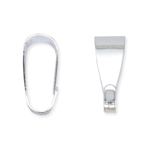 Pendant Bail, 10 mm (.4 in), Silver Plated, 18 pc