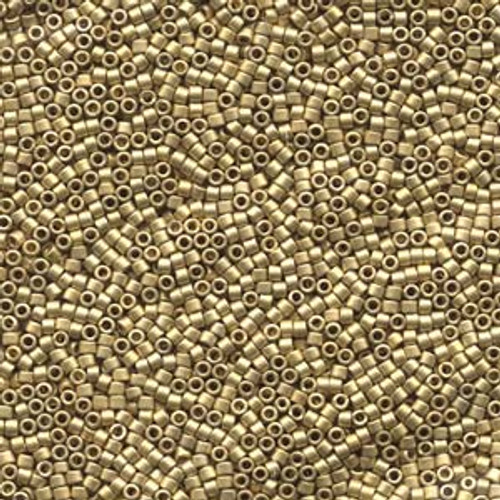 Matte Metallic Dark Yellow Gold 24kt. 11/0 Delica Beads db334 (8 Grams)