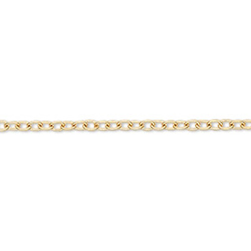 3x2.5mm Gold Plated Chain - 5 foot package