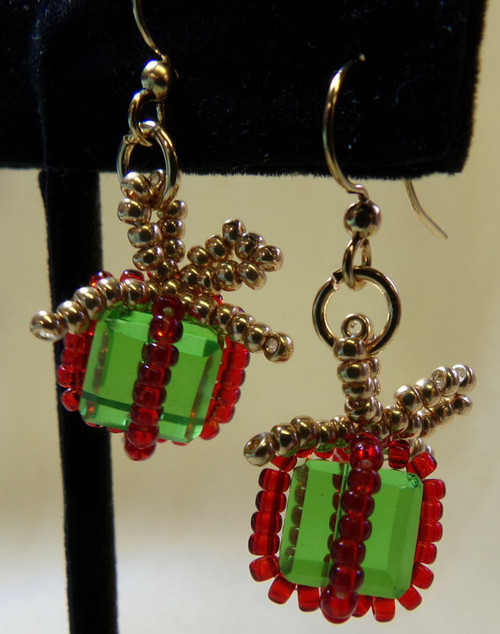 Christmas Package Earrings Tutorial Off The Beaded Path