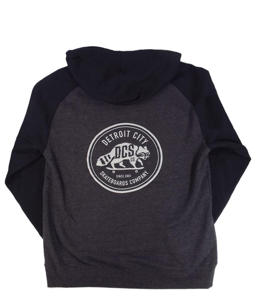 DCS New Raccoon Logo 3M Hooded Sweatshirt - Charcoal Heather/Black