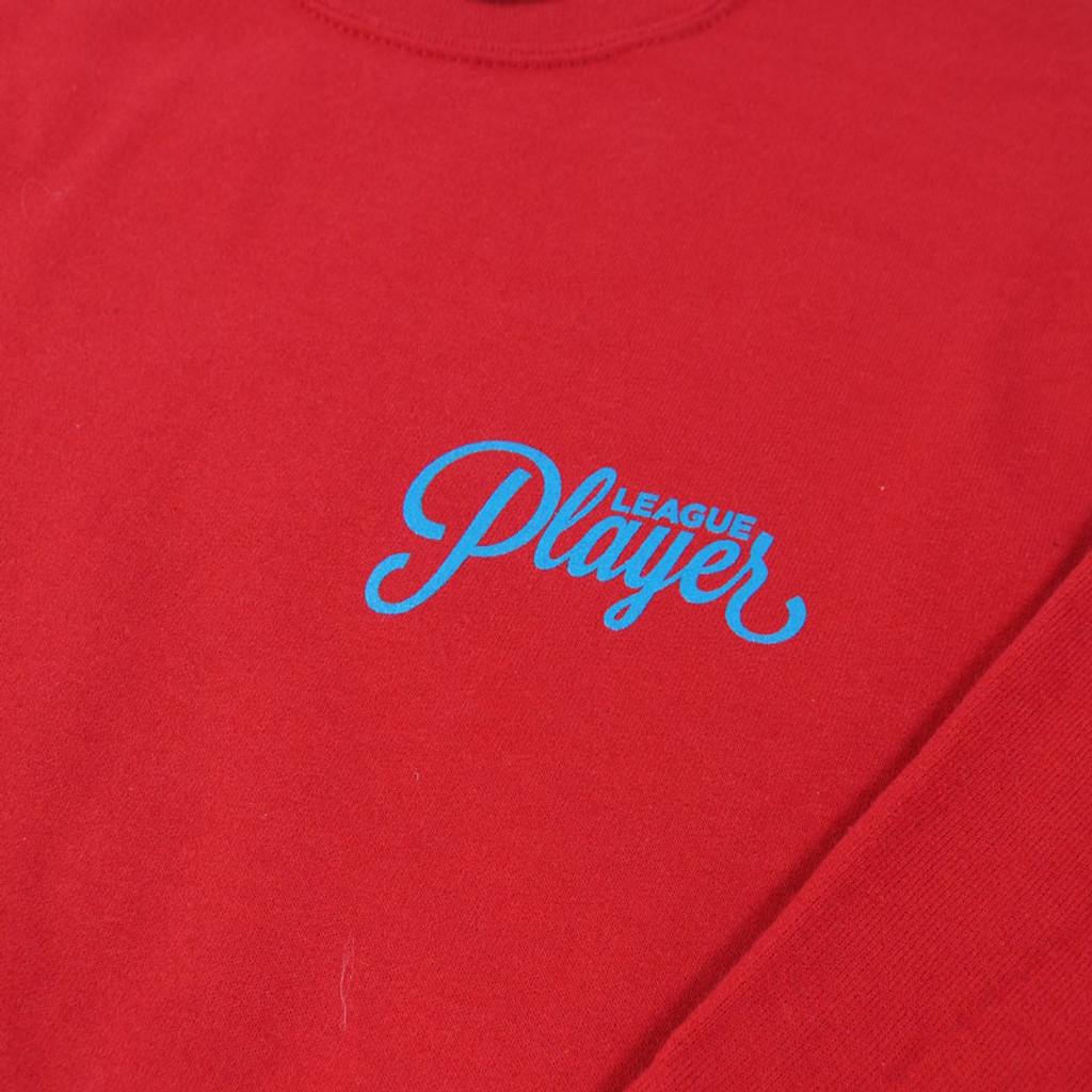 Alltimers League Player Crew Sweatshirt- Red