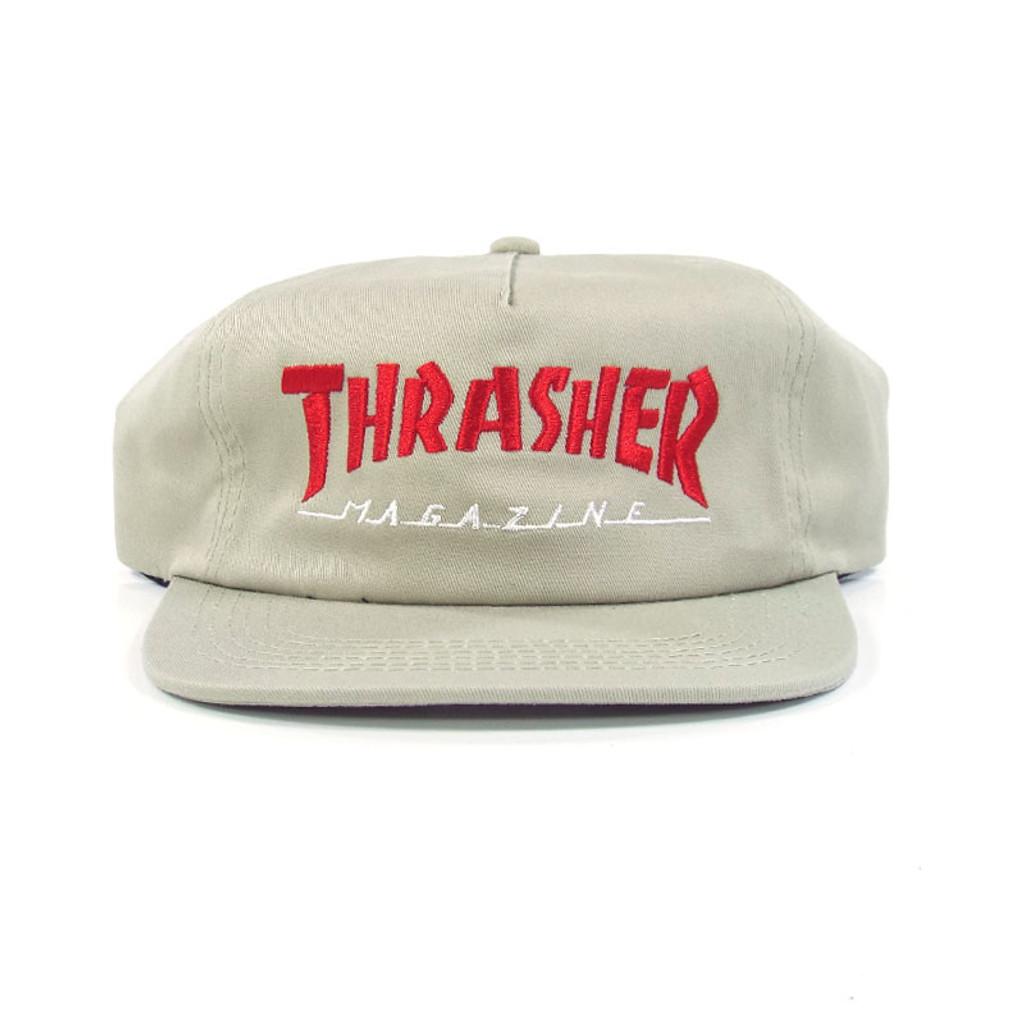 Thrasher Two Tone Mag Logo Snapback Hat - Tan/Red