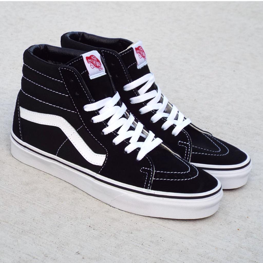 Vans Sk8-Hi Classic Shoes - Black/Black/White