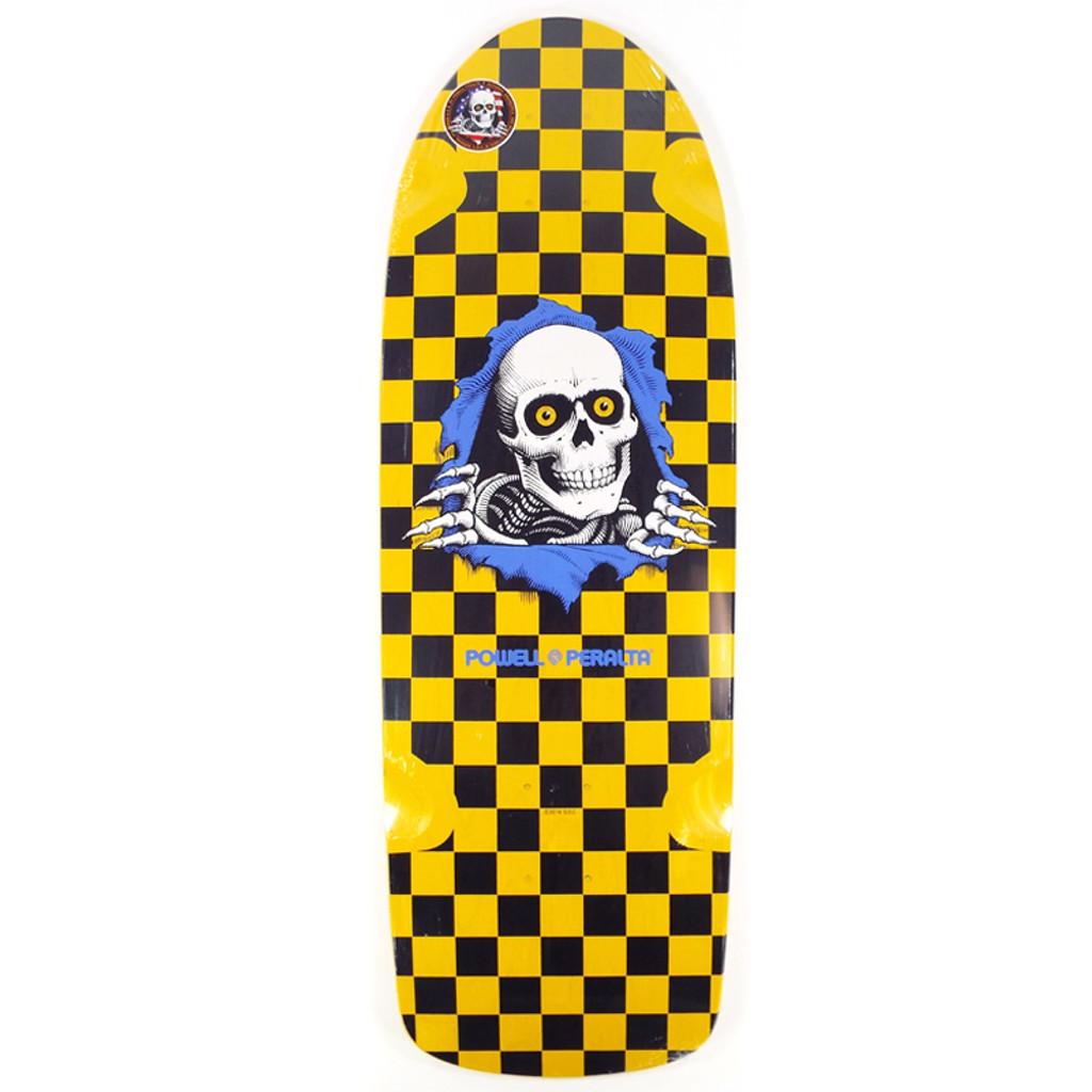 """Powell OG Ripper Yellow/Black Skateboard Deck - 10"""""""