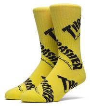 Huf Thrasher TDS Crew Socks - Yellow