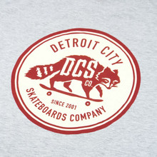DCS New Raccoon Logo T-Shirt - Heather Grey