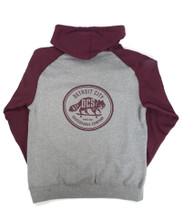 DCS New Raccoon Logo Hooded Sweatshirt - Grey/Burgundy