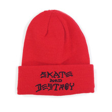 Thrasher Skate & Destroy Beanie - Red