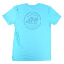 DCS Raccoon Logo Summer Bummer T-Shirt - Pool Blue