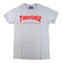 Thrasher Skate Mag T-Shirt - Heather Grey/Red