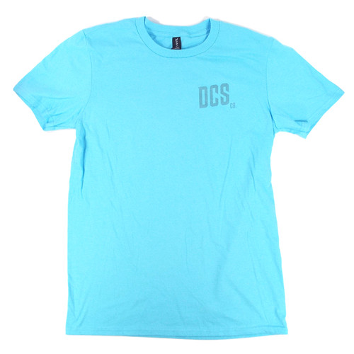 DCS Raccoon Logo Summer Bummer T-Shirt - Pool Blue