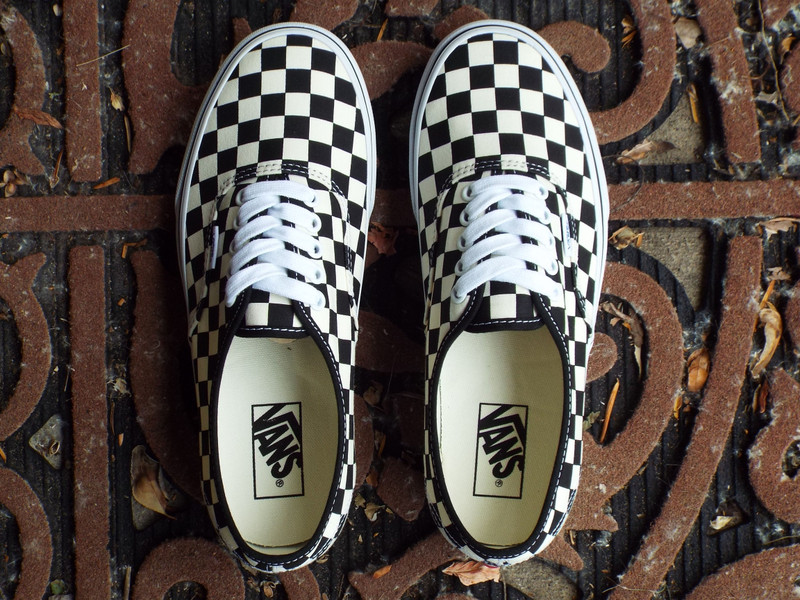 Vans Authentic (Golden Coast) Checkerboard Shoes are here!