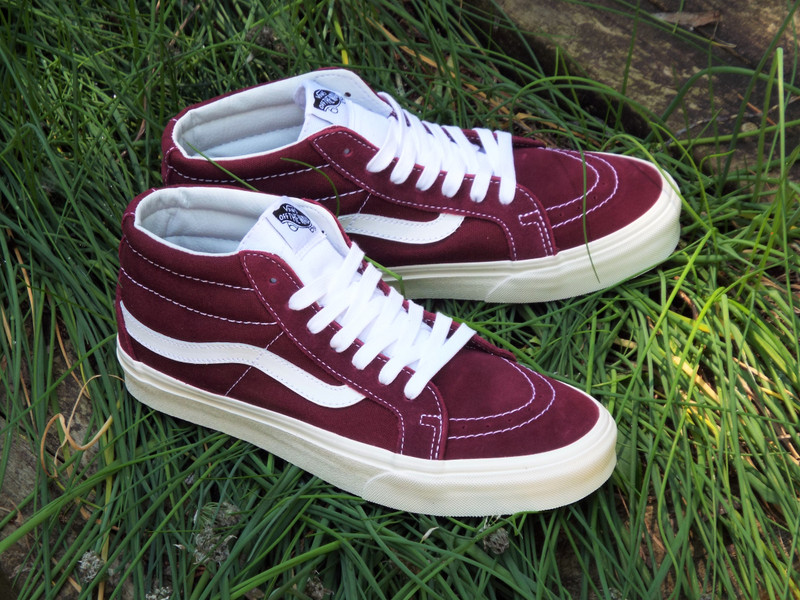 Vans Sk8-Mid Reissue (Retro Sport) Port Royale Shoes on the shelves.