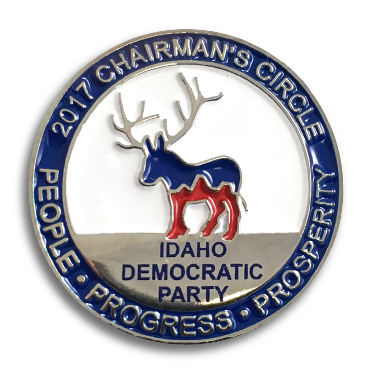 """Idaho Democratic Party"" logo graphic (Enamel Lapel Pin)"