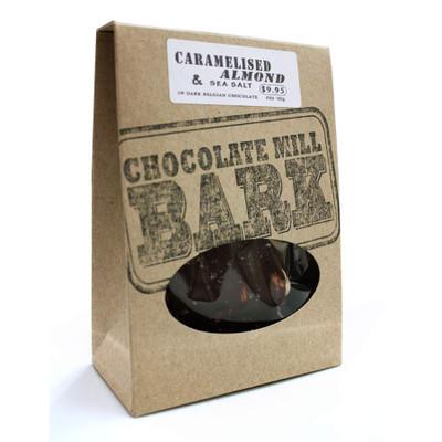 Caramelised Almonds & Sea Salt in Dark Chocolate