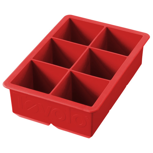 Tovolo® King Cube Silicone Ice Tray in Red