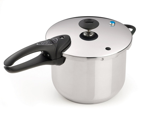 National Presto Stainless Steel 6-Quart Deluxe Stovetop Pressure Cooker