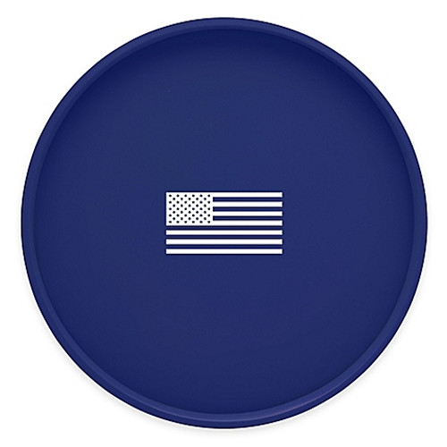 Kraftware™ Kasualware U.S.A. Round Serving Tray in Blue