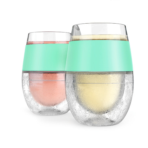 Wine FREEZE™ Cooling Cups in Mint (Set of 2) by HOST®