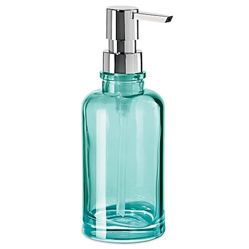 OGGI® Round Glass 12 oz. Soap Dispenser in Aqua