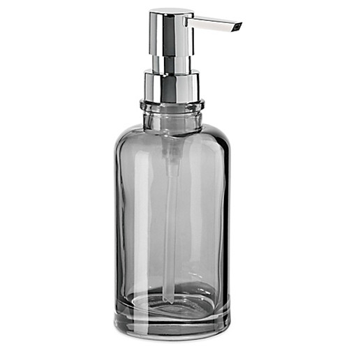 OGGI® Round Glass 12 oz. Soap Dispenser in Smoke