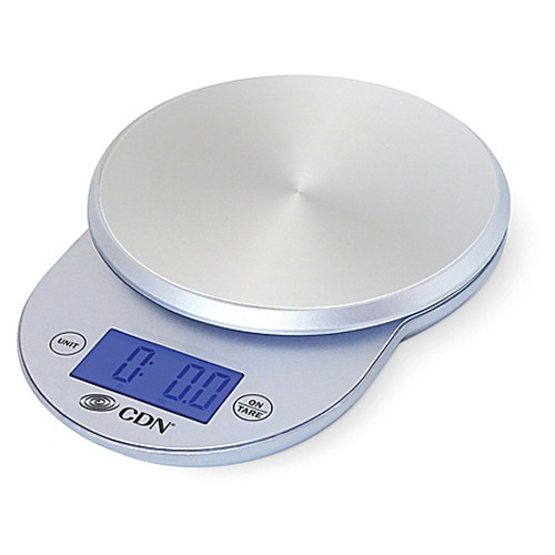 CDN ProAccurate 11 lb. Digital Stainless Steel Food Scale in Silver