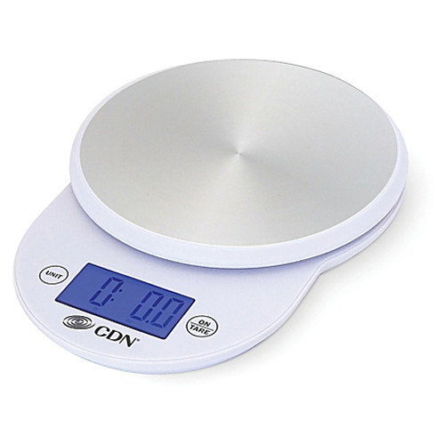 CDN ProAccurate 11 lb. Digital Stainless Steel Food Scale in White