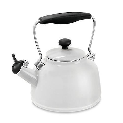 Chantal® 2 qt. Vintage Tea Kettle in White