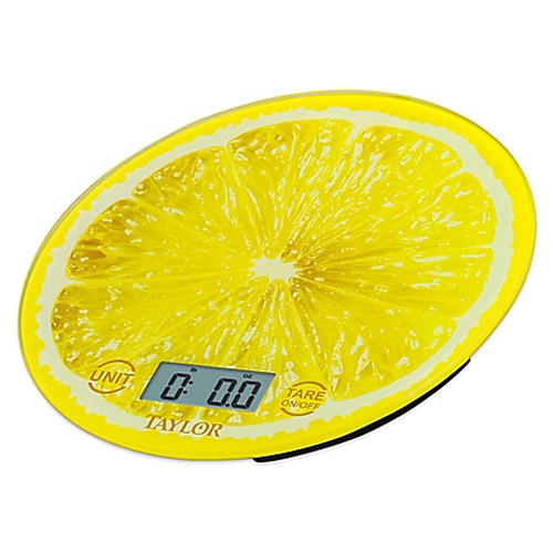 Taylor® Digital Kitchen Scale in Yellow