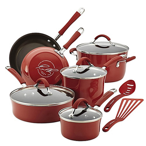 Rachael Ray™ Cucina 12-Piece Hard Enamel Cookware Set in Red