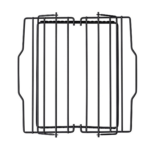 Harold Import Co. Adjustable 10-Inch x 9.25-Inch Roast Rack in Black
