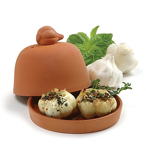 Norpro® Large Garlic Baker in Terra Cotta