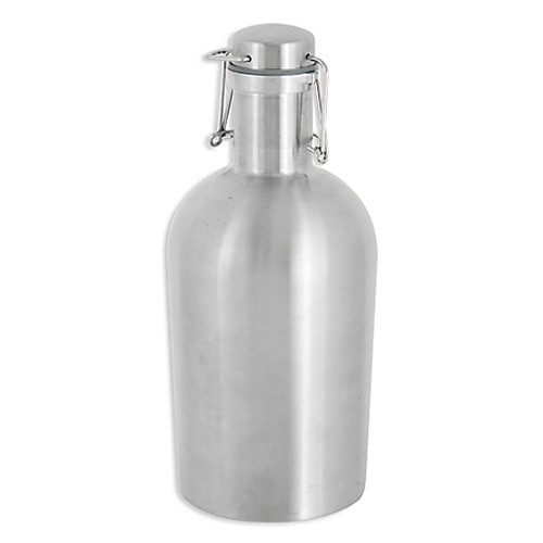 Oenophilia Stainless Steel 64 oz. Growler in Silver