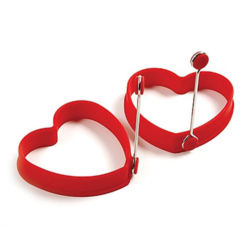 Norpro® Silicone Heart Pancake and Egg Rings (Set of 2)