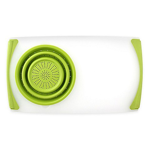 Dexas® Over-the-Sink Strainer Board in Green