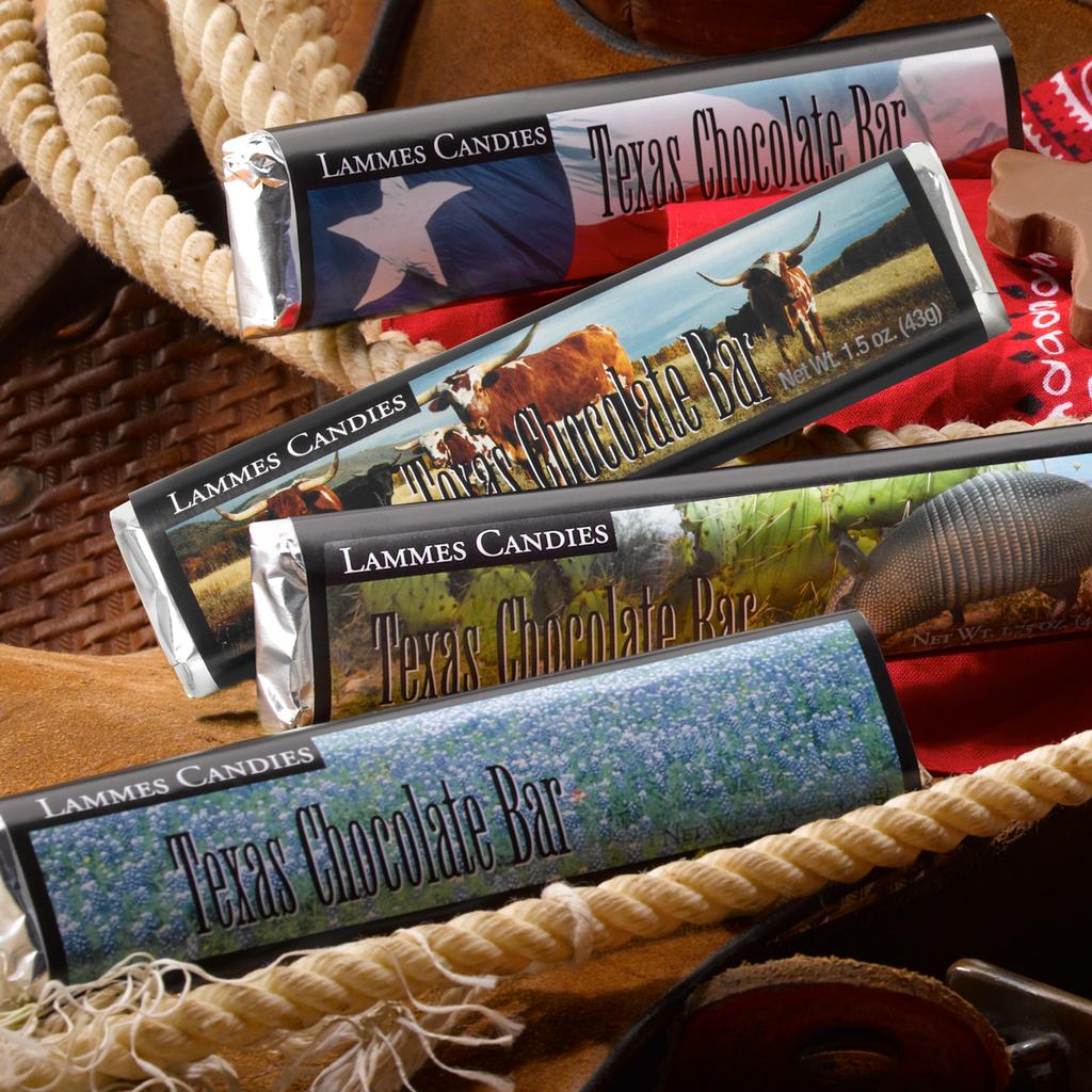 Texas Themed Chocolate Bars