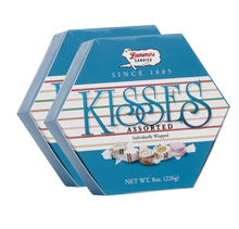 Assorted Taffy Kisses Hexagon Boxes - 2 Pack