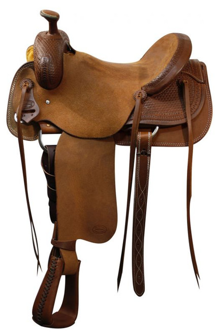 """16"""" Showman Roping Saddle / Will James Tree / Roping Warranty"""