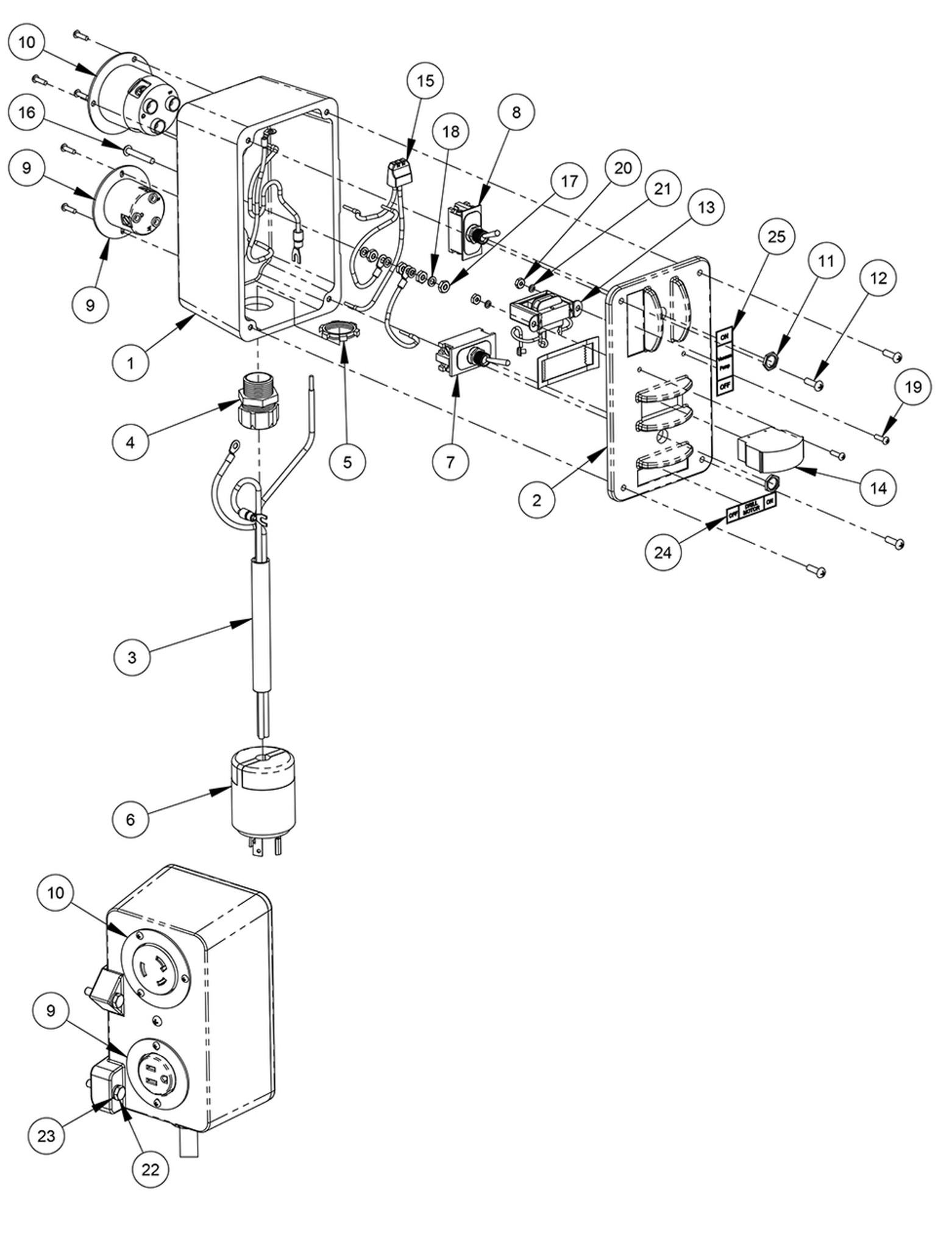 Connector, Push-In 3 Port, 14-10 Ga Wire | Core Bore M-5 Pro | 2801800