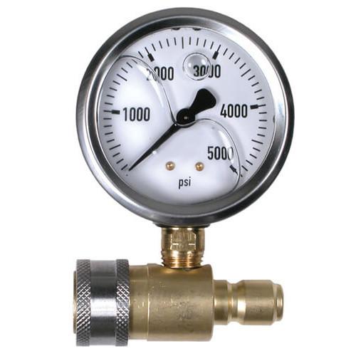 "Quick Connect 2.5"" Pressure Gauge 5000psi | BE Pressure | V-ATG001"