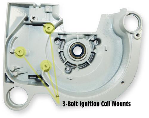 Crankcase (02-2002+, 3-Bolt Ignition Coil) | Stihl TS400 | 4223-020-2600