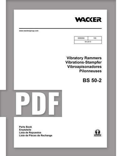 Parts Manual   BS50-2 - Item: 0009384, REV100   Free Download