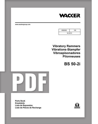 Parts Manual   BS50-2i - Item: 0009383, REV100   Free Download