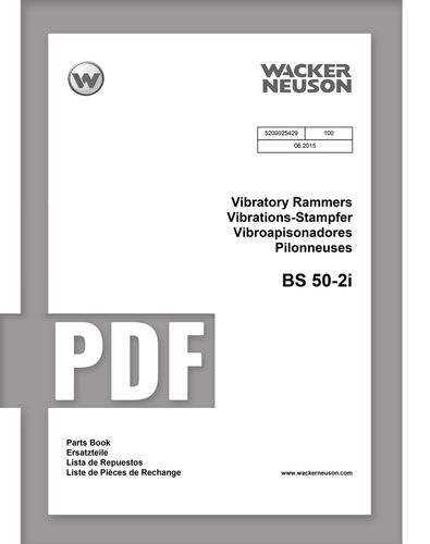 Parts Manual   BS50-2i - Item: 5200025429, REV100   Free Download