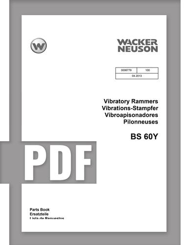Parts Manual   BS60Y - Item: 0006779, REV100   Free Download