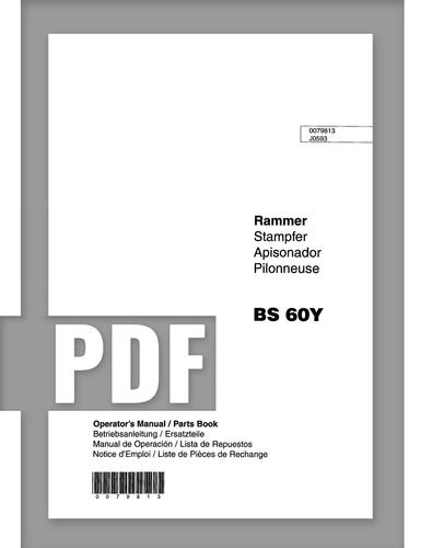 Parts Manual   BS60Y - Item: 0079813, REV000   Free Download