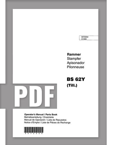 Parts Manual   BS62Y - Item: 0005428, REV100   Free Download